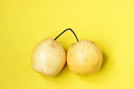 solid color: Solid color background of pears