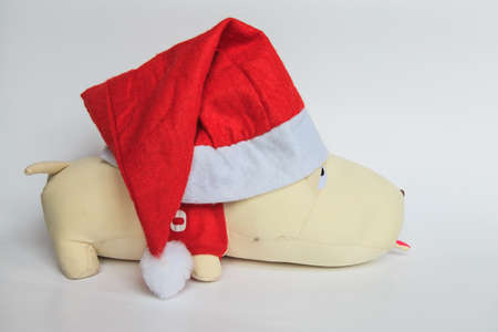 artefacts: Wearing a Christmas Hat toy dog