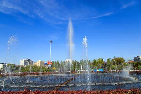 central square: Fountain in central square