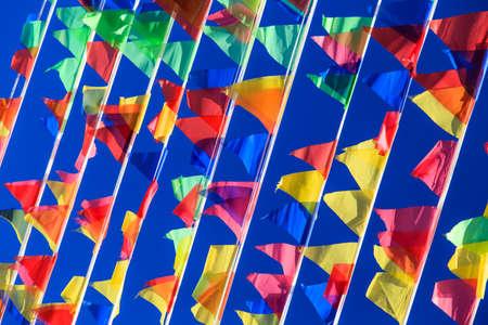 horizontal format horizontal: colorful flags Stock Photo