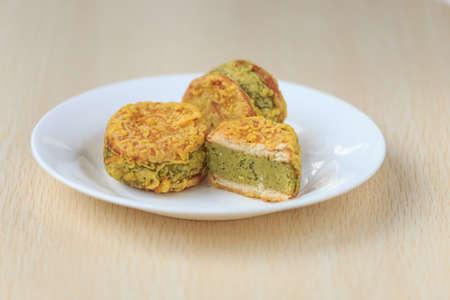 緑豆ケーキの繊細さ