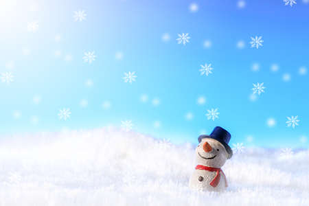 Snowman in the snow Stock fotó