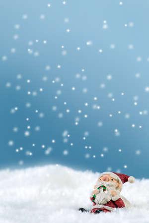 Santa Claus in the snow Stock Photo
