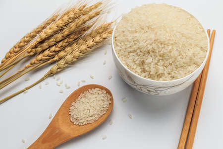 Harvested rice Imagens