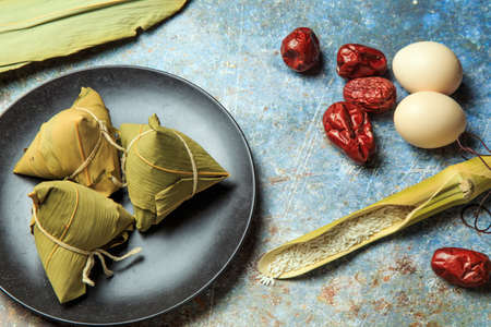 Chinese traditional snack - zongzi 写真素材