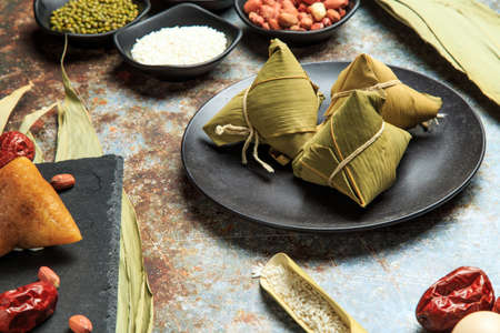 Chinese traditional snack - zongzi Stockfoto