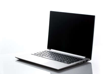 A notebook computer in a white background 写真素材