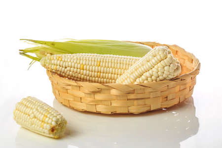 Corn in the basket
