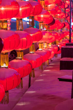 Red lantern in the snow