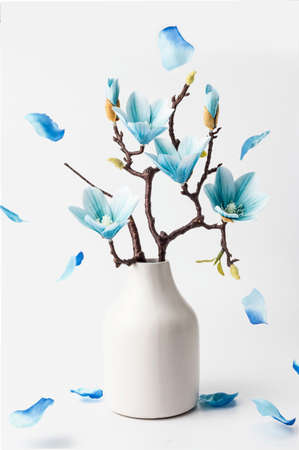 Fleur de magnolia bleu