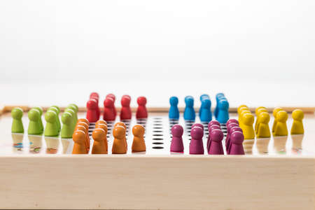 Childrens puzzle board game Imagens