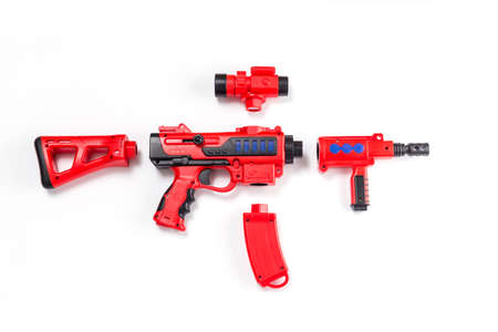 a toy gun capable of splicing a combination