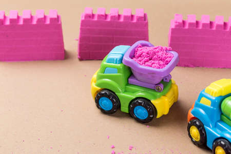 Various types of toy cars