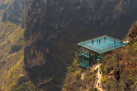 Baquan Gorges fascinating natural landscape 新聞圖片