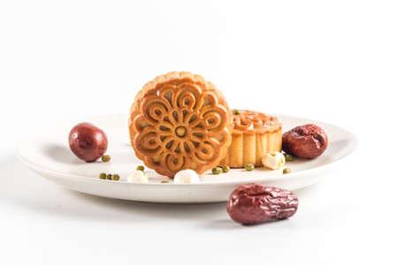 Chinesische traditionelle Küche - Mondkuchen Standard-Bild