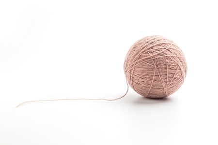 Yarn ball in white background Stok Fotoğraf