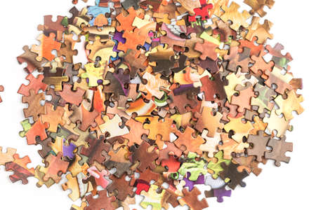 jigsaw puzzles top view 스톡 콘텐츠 - 142805217