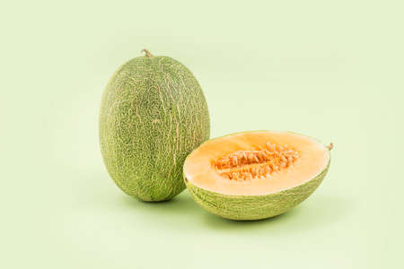 Fresh and delicious cantaloupes