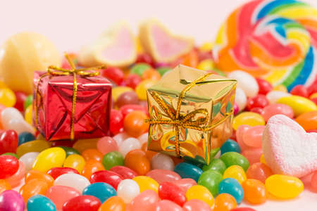 Colorful candies and exquisite gifts