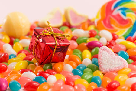 Colorful candies and exquisite gift