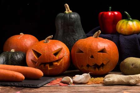 Pumpkin lantern prepared for Halloween
