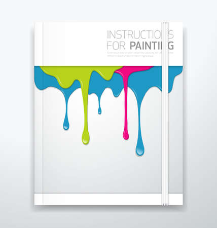 ooze: Cover paint colorful dripping Illustration