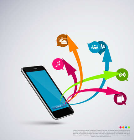 mobile application: Mobile application vector