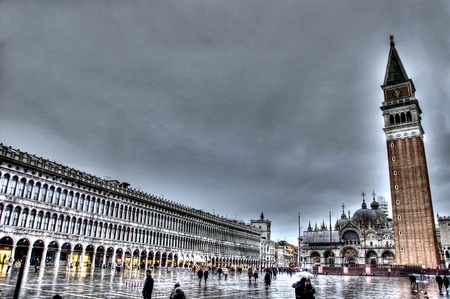 hdr background: Venice square