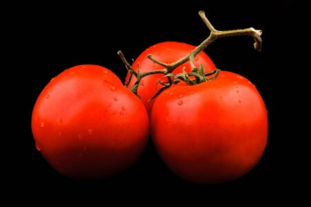 Tomato isolated on the black Stock Photo - 12999952
