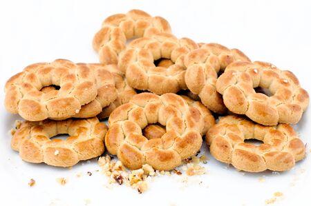 Round tea cookies photo