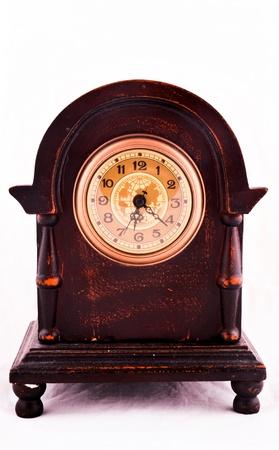 reloj antiguo: Antiguo reloj antiguo y el daño Foto de archivo