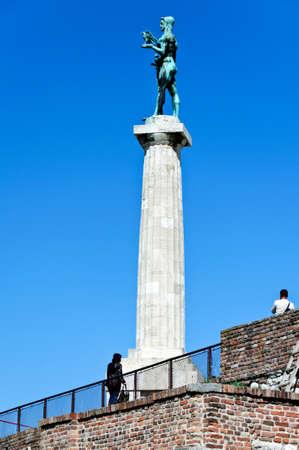 leeway: The monument of the Belgrade winner Stock Photo