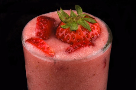 Strawberries Smoothy juices  photo