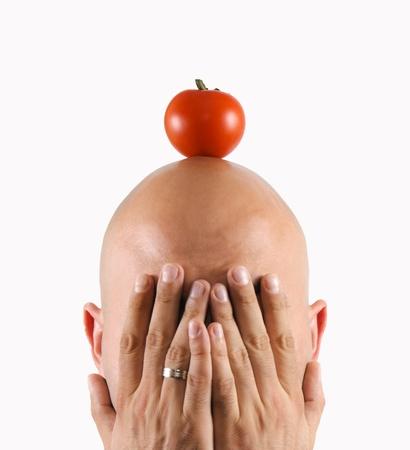 Tomatoe on my head Stock Photo - 13505112