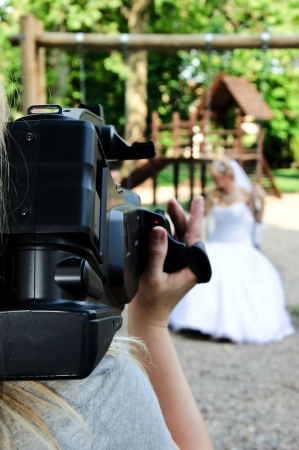 Wedding recording with the camera photo