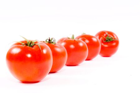 Tomatoes in the line Stock Photo - 13683216