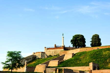 leeway: View of Kalemegdan castle in Belgrade