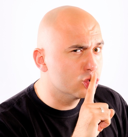 Shhh silence please Stock Photo
