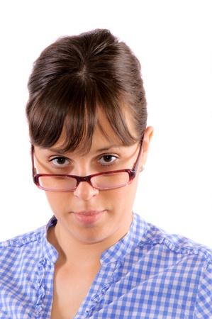 Woman Wearing Glasses Stock Photo - 13787808