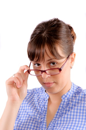 Young woman holding glasses Stock Photo - 13787809