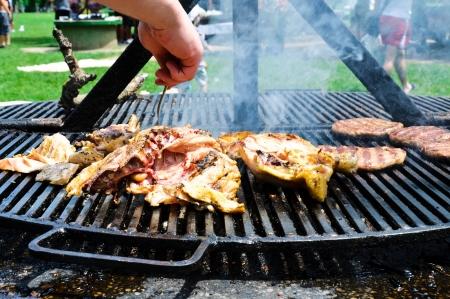 prepare the grill  photo