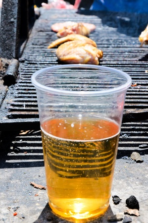 Beer and grill photo