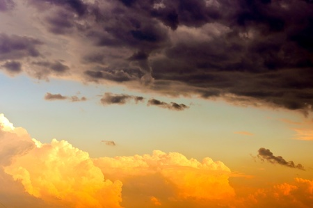 Good and bad clouds Stock Photo - 14016864