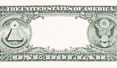 Back side of the one dollar photo