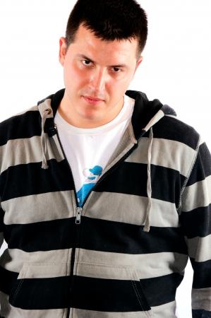 Angry and sweaty man  photo