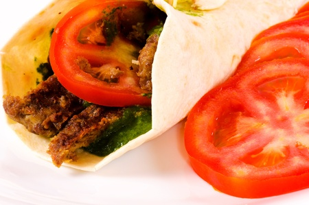 Doner kebab with tomato Stock Photo - 14348165