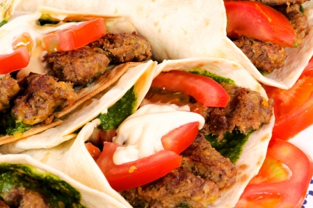 Doner kebab closeup  photo