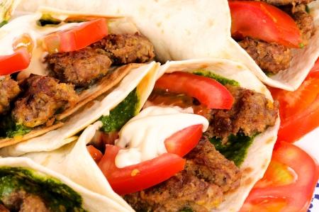 Doner kebab closeup  photo
