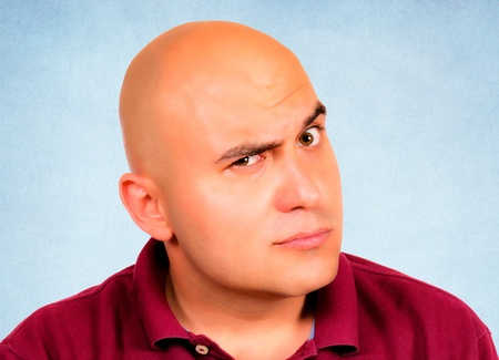 Bald guy is very curious  Stock Photo - 14381955