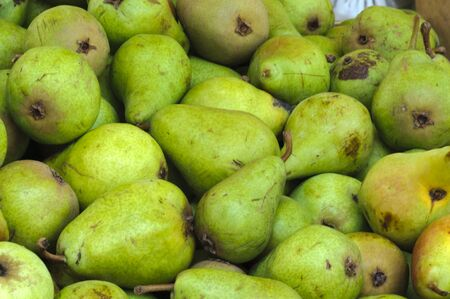 Bunch of real organic pears  photo